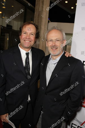 HOLLYWOOD, CA - NOVEMBER 09: Screenwriter Clay Frohman and Producer Pieter Jan Brugge at Paramount Vantage Premiere of 'Defiance' at the 2008 AFI Fest Closing Night Gala on November 09, 2008 at the Cinerama Dome in Hollywood, CA.