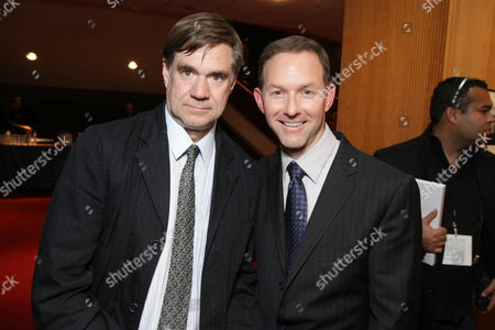 BEVERLY HILLS, CA - NOVEMBER 13: **EXCLUSIVE** Director Gus Van Sant and Producer Dan Jinks at Focus Features' Los Angeles Premiere of 'MILK' on November 13, 2008 at Academy of Motion Pictures Arts and Sciences in Beverly Hills, CA.