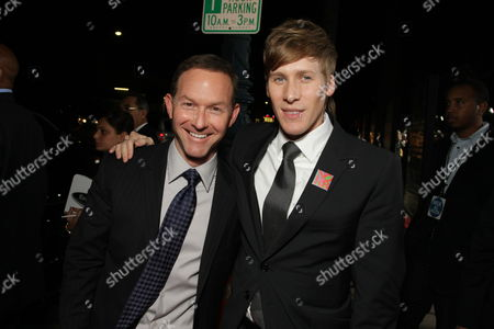 BEVERLY HILLS, CA - NOVEMBER 13: Producer Dan Jinks and Writer/Exec. Producer Dustin Lance Black at Focus Features' Los Angeles Premiere of 'MILK' on November 13, 2008 at Academy of Motion Pictures Arts and Sciences in Beverly Hills, CA.