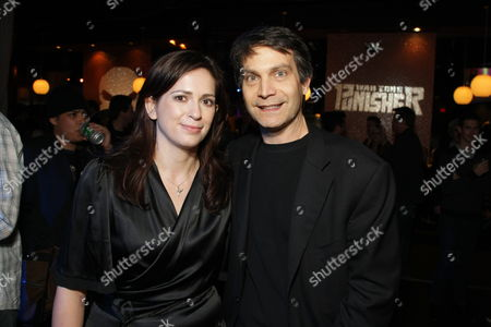 Stock Image of HOLLYWOOD, CA - DECEMBER 01: Director Lexi Alexander and Marvel's David Maisel at Lionsgate special screening of 'The Punisher' on December 01, 2008 at Mann's Chinese Theatre in Hollywood, California.