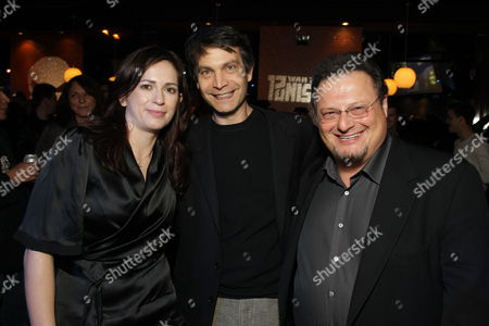 Stock Picture of HOLLYWOOD, CA - DECEMBER 01: Director Lexi Alexander, Marvel's David Maisel and Wayne Knight at Lionsgate special screening of 'The Punisher' on December 01, 2008 at Mann's Chinese Theatre in Hollywood, California.