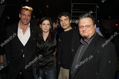 Stock Photo of HOLLYWOOD, CA - DECEMBER 01: Ray Stevenson, Director Lexi Alexander, Marvel's David Maisel and Wayne Knight at Lionsgate special screening of 'The Punisher' on December 01, 2008 at Mann's Chinese Theatre in Hollywood, California.
