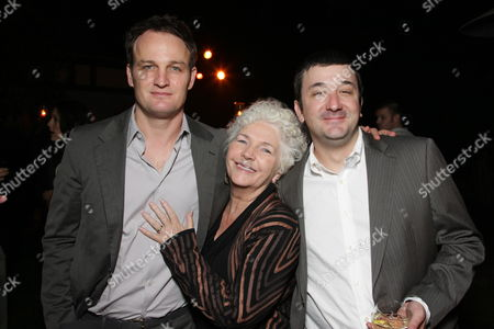 LOS ANGELES, CA - DECEMBER 04:**EXCLUSIVE** Jason Clarke, Fionnula Flanagan and Brotherhood Creator Blake Masters at Showtime's Holiday Party on December 04, 2008 in Los Angeles, California.