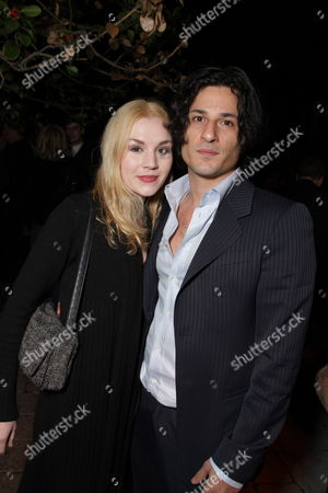 Stock Photo of LOS ANGELES, CA - DECEMBER 04:**EXCLUSIVE** Rachel Miner and Hal Ozsan at Showtime's Holiday Party on December 04, 2008 in Los Angeles, California.