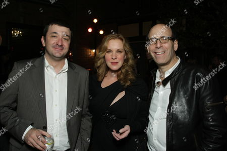 LOS ANGELES, CA - DECEMBER 04:**EXCLUSIVE** Brotherhood Creator Blake Masters, Elizabeth Perkins and Showtime's Matt Blank at Showtime's Holiday Party on December 04, 2008 in Los Angeles, California.