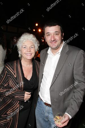 LOS ANGELES, CA - DECEMBER 04:**EXCLUSIVE** Fionnula Flanagan and Brotherhood Creator Blake Masters at Showtime's Holiday Party on December 04, 2008 in Los Angeles, California.