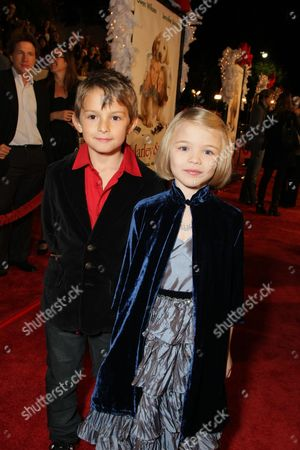 WESTWOOD, CA - DECEMBER 11: Finley Jacobsen and Lucy Merriam at 20th Century Fox Premiere of 'Marley & Me' on December 11, 2008 at Mann's Village Theatre in Westwood, California.