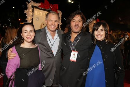 WESTWOOD, CA - DECEMBER 11: Fox' Pam Levine, Regency's Hutch Parker, Fox' Tony Sella and Fox 2000's Carla Hacken at 20th Century Fox Premiere of 'Marley & Me' on December 11, 2008 at Mann's Village Theatre in Westwood, California.