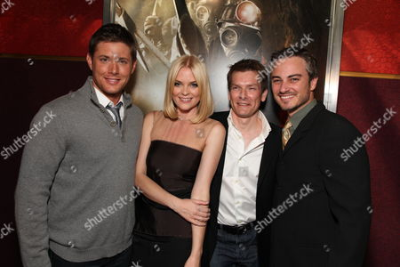 LOS ANGELES, CA - JANUARY 08: Jensen Ackles, Jaime King, Director Patrick Lussier and kerr Smith at the Los Angeles Special Screening of Lionsgate's 'My Bloody Valentine 3D' on January 08, 2008 at the Mann's Chinese Six in Los Angeles, California.