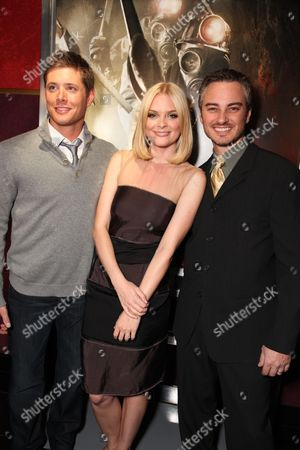 LOS ANGELES, CA - JANUARY 08: Jensen Ackles, Jaime King and kerr Smith at the Los Angeles Special Screening of Lionsgate's 'My Bloody Valentine 3D' on January 08, 2008 at the Mann's Chinese Six in Los Angeles, California.