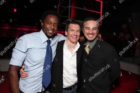LOS ANGELES, CA - JANUARY 08: Edi Gathegi, Director Patrick Lussier and Kerr Smith at the Los Angeles Special Screening of Lionsgate's 'My Bloody Valentine 3D' on January 08, 2008 at the Mann's Chinese Six in Los Angeles, California.