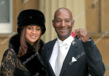 ERROL BROWN WITH HIS WIFE GINETTE