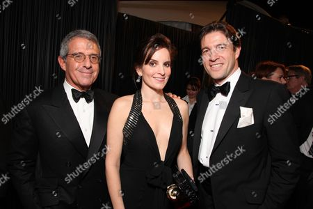 BEVERLY HILLS - JANUARY 11: Universal's Ron Meyer, Tina Fey and Cartier's Frederic De Narp at The NBC/Universal Pictures/Focus Features Golden Globes Party on January 11, 2009 at the Beverly Hilton Hotel in Beverly Hills, CA.