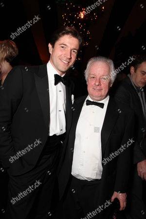 BEVERLY HILLS - JANUARY 11: **EXCLUSIVE** Cartier's Frederic De Narp and Jim Sheridan at The NBC/Universal Pictures/Focus Features Golden Globes Party on January 11, 2009 at the Beverly Hilton Hotel in Beverly Hills, CA.