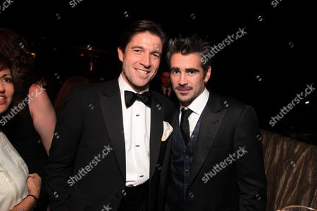BEVERLY HILLS - JANUARY 11: **EXCLUSIVE** Cartiers' Frederic De Narp and Colin Farrell at The NBC/Universal Pictures/Focus Features Golden Globes Party on January 11, 2009 at the Beverly Hilton Hotel in Beverly Hills, CA.