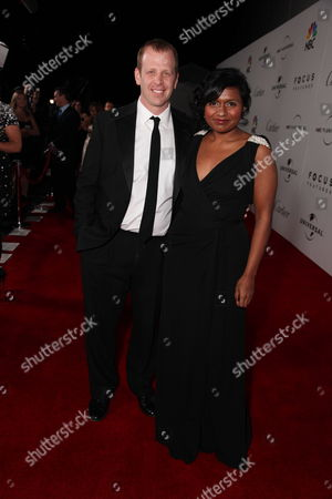 BEVERLY HILLS - JANUARY 11: Paul Lieberstein and Mindy Kaling at The NBC/Universal Pictures/Focus Features Golden Globes Party on January 11, 2009 at the Beverly Hilton Hotel in Beverly Hills, CA.