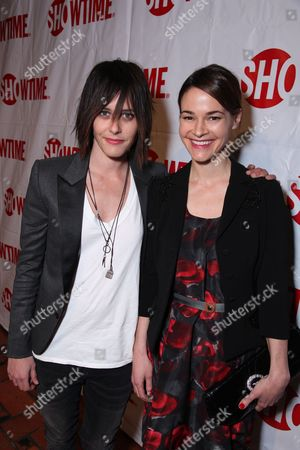 HOLLYWOOD, CA - JANUARY 14: Katherine Moenning and Leisha Hailey at Showtime's 2009 Winter TCA Party on January 14, 2009 at the Roosevelt Hotel in Hollywood, California.