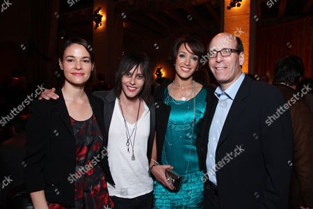 Stock Photo of HOLLYWOOD, CA - JANUARY 14: Leisha Haile, Katherine Moenning, Jennifer Beals and Showtime's Matt Blank at Showtime's 2009 Winter TCA Party on January 14, 2009 at the Roosevelt Hotel in Hollywood, California.