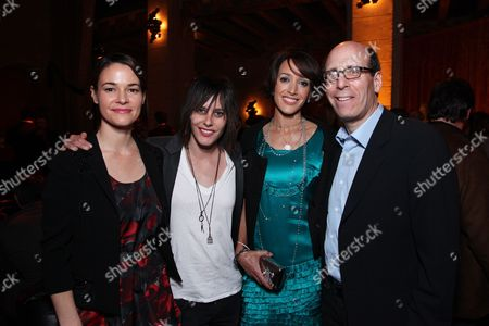 Stock Image of HOLLYWOOD, CA - JANUARY 14: Leisha Haile, Katherine Moenning, Jennifer Beals and Showtime's Matt Blank at Showtime's 2009 Winter TCA Party on January 14, 2009 at the Roosevelt Hotel in Hollywood, California.