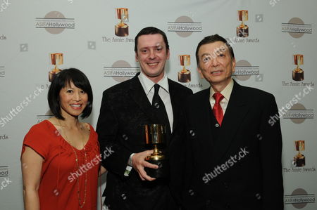WESTWOOD, CA - JANUARY 30: Lauren Tom, Mico Marlet and James Hong at the 36th Annual Annie Awards on January 30, 2009 at UCLA in Westwood, California.