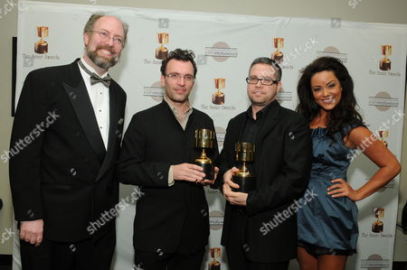 WESTWOOD, CA - JANUARY 30: Mark Walton, Henry Jackman, John Powell and Katy Mixon at the 36th Annual Annie Awards on January 30, 2009 at UCLA in Westwood, California.