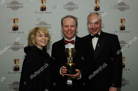 WESTWOOD, CA - JANUARY 30: Mae Whittman, Nick Park and Ben Burtt at the 36th Annual Annie Awards on January 30, 2009 at UCLA in Westwood, California.