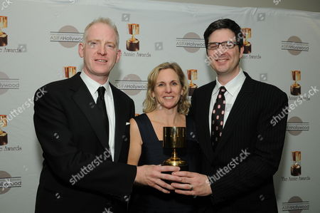 WESTWOOD, CA - JANUARY 30: John Stevenson, Melissa Cobb and Mark Osborne at the 36th Annual Annie Awards on January 30, 2009 at UCLA in Westwood, California.