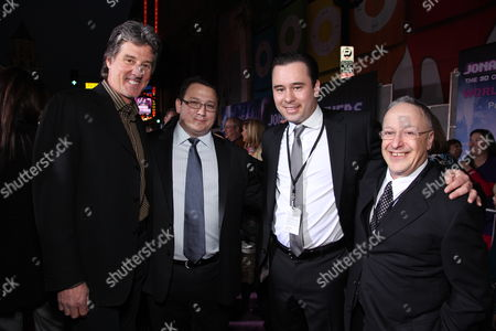 HOLLYWOOD, CA - FEBRUARY 24: Director Bruce Hendricks, Producer Kevin Jonas Sr., Producer Philp McIntyre and Producer Alan Sacks at the World Premiere of Walt Disney Pictures' 'Jonas Brothers: The 3D Concert Experience' on February 24, 2009 at the El Capitan Theatre in Hollywood, California.