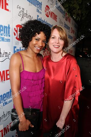 WEST HOLLYWOOD, CA - MARCH 03: Rose Rollins and Laurel Holloman at Showtime's 'L Word' Farewell party on March 03, 2009 at Cafe La Boheme in West Hollywood, California.