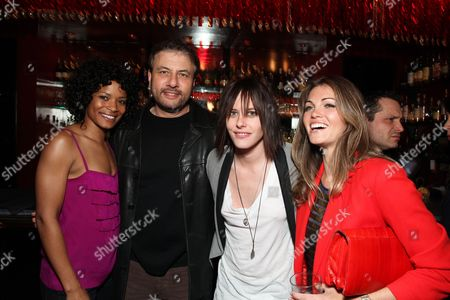 WEST HOLLYWOOD, CA - MARCH 03: Rose Rollins, Showtime's Gary Levine, Katherine Moennig and Kate French at Showtime's 'L Word' Farewell party on March 03, 2009 at Cafe La Boheme in West Hollywood, California.