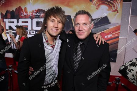 HOLLYWOOD, CA - MARCH 11: Steve Rushton and Producer Andrew Gunn at The World Premiere of Walt Disney Pictures 'Race to Witch Mountain' on March 11, 2009 at the El Capitan Theatre in Hollywood, California.