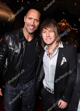 HOLLYWOOD, CA - MARCH 11: Dwayne Johnson and Steve Rushton at The World Premiere of Walt Disney Pictures 'Race to Witch Mountain' on March 11, 2009 at the El Capitan Theatre in Hollywood, California.