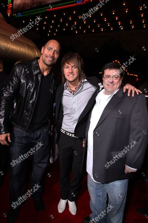 HOLLYWOOD, CA - MARCH 11: Dwayne Johnson, Steve Rushton and Director Andy Fickman at The World Premiere of Walt Disney Pictures 'Race to Witch Mountain' on March 11, 2009 at the El Capitan Theatre in Hollywood, California.