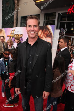 Stock Photo of HOLLYWOOD, CA - APRIL 02: Screenwriter Dan Berendsen at the World Premiere of Walt Disney Pictures 'Hannah Montana The Movie' on April 02, 2009 at the El Capitan Theatre in Hollywood, California.