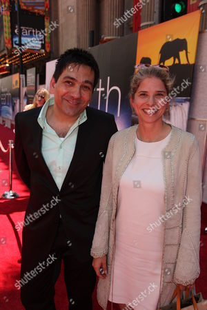 HOLLYWOOD, CA - APRIL 18: Producer Sophokles Tasioulis and Producer Alix Tidmarsh at the World Premiere of DisneyNature's 'EARTH' on April 18, 2009 at the El Capitan Theatre in Hollywood, California.