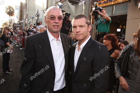 HOLLYWOOD, CA - MAY 14: Producer Moritz Borman and Sam Worthington at Warner Bros. Pictures U.S. Premiere of 'Terminator Salvation' on May 14, 2009 at Grauman's Chinese Theatre in Hollywood, California.