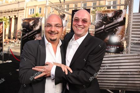 HOLLYWOOD, CA - MAY 14: Writer/Producer Anthony Zuiker and Producer Moritz Borman at Warner Bros. Pictures U.S. Premiere of 'Terminator Salvation' on May 14, 2009 at Grauman's Chinese Theatre in Hollywood, California.