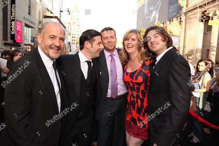 HOLLYWOOD, CA - MAY 14: Producer Jeffrey Silver, Producer Derek Anderson, Director McG, Exec. Producer Jeanne Allgood and Producer Victor Kubicek at Warner Bros. Pictures U.S. Premiere of 'Terminator Salvation' on May 14, 2009 at Grauman's Chinese Theatre in Hollywood, California.