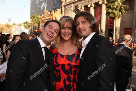 HOLLYWOOD, CA - MAY 14: Producer Derek Anderson, Exec. Producer Jeanne Allgood and Producer Victor Kubicek at Warner Bros. Pictures U.S. Premiere of 'Terminator Salvation' on May 14, 2009 at Grauman's Chinese Theatre in Hollywood, California.