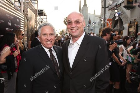 HOLLYWOOD, CA - MAY 14: Warner's Dan Fellman and Producer Moritz Borman at Warner Bros. Pictures U.S. Premiere of 'Terminator Salvation' on May 14, 2009 at Grauman's Chinese Theatre in Hollywood, California.