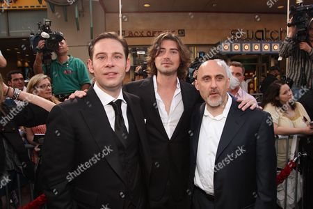 HOLLYWOOD, CA - MAY 14: Producer Derek Anderson, Producer Victor Kubicek and Warner's Jeff Robinov at Warner Bros. Pictures U.S. Premiere of 'Terminator Salvation' on May 14, 2009 at Grauman's Chinese Theatre in Hollywood, California.