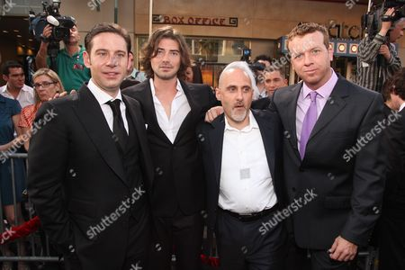 HOLLYWOOD, CA - MAY 14: Producer Derek Anderson, Producer Victor Kubicek, Warner's Jeff Robinov and Director McG at Warner Bros. Pictures U.S. Premiere of 'Terminator Salvation' on May 14, 2009 at Grauman's Chinese Theatre in Hollywood, California.