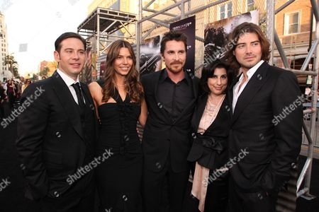 HOLLYWOOD, CA - MAY 14: Producer Derek Anderson, Sibi Blazic, Christian Bale, Warner's Sue Kroll and Producer Victor Kubicek at Warner Bros. Pictures U.S. Premiere of 'Terminator Salvation' on May 14, 2009 at Grauman's Chinese Theatre in Hollywood, California.