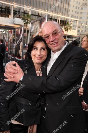 HOLLYWOOD, CA - MAY 14: Warner's Sue Kroll and Producer Moritz Borman at Warner Bros. Pictures U.S. Premiere of 'Terminator Salvation' on May 14, 2009 at Grauman's Chinese Theatre in Hollywood, California.