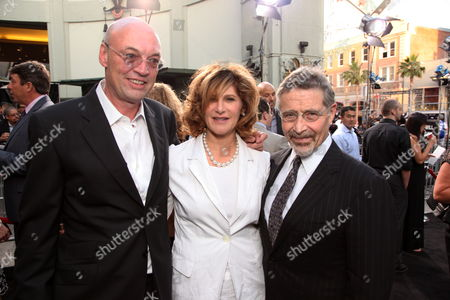 HOLLYWOOD, CA - MAY 14: Producer Moritz Borman, Sony's Amy Pascal and Warner's Barry Meyer at Warner Bros. Pictures U.S. Premiere of 'Terminator Salvation' on May 14, 2009 at Grauman's Chinese Theatre in Hollywood, California.