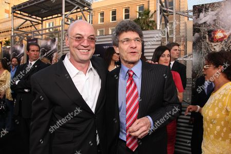 HOLLYWOOD, CA - MAY 14: Producer Moritz Borman and Warner's Alan Horn at Warner Bros. Pictures U.S. Premiere of 'Terminator Salvation' on May 14, 2009 at Grauman's Chinese Theatre in Hollywood, California.