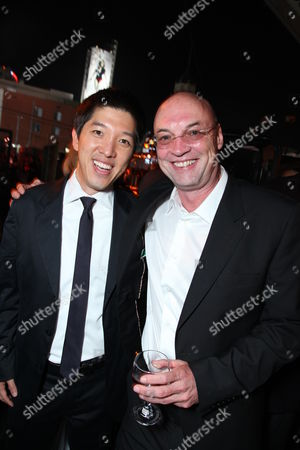 HOLLYWOOD, CA - MAY 14: Exec. Producer Dan Lin and Producer Moritz Borman at Warner Bros. Pictures U.S. Premiere of 'Terminator Salvation' on May 14, 2009 at Grauman's Chinese Theatre in Hollywood, California.