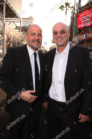 HOLLYWOOD, CA - MAY 14: Producer Jeffrey Silver and Producer Moritz Borman at Warner Bros. Pictures U.S. Premiere of 'Terminator Salvation' on May 14, 2009 at Grauman's Chinese Theatre in Hollywood, California.