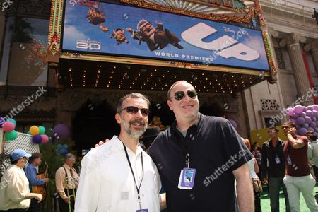 HOLLYWOOD, CA - MAY 16: Disney/Pixar's Ed Catmull and Disney's Jim Gallagher at Disney/Pixar's 'UP' Premiere on May 16, 2009 at the El Capitan Theatre in Hollywood, California.