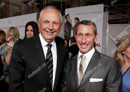 HOLLYWOOD, CA - JUNE 01: Disney's Dick Cook and Adam Shankman at the World Premiere of Touchstone Pictures' 'The Proposal' on June 01, 2009 at the El Capitan Theatre in Hollywood, California.